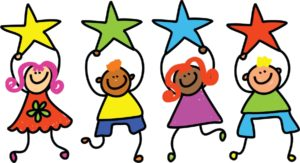 children holding stars